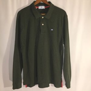 SOUTHERN TIDE | 40 | L | GREEN LONG-SLEEVE POLO